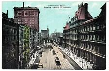 1907 Postcard Government Square Street Car Trolley Cincinnati Ohio Unposted