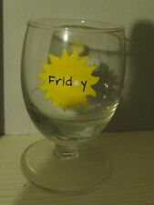 "VERRE RICARD DE COLLECTION "" JOUR DE LA SEMAINE "" FRIDAY "" 17 CL"