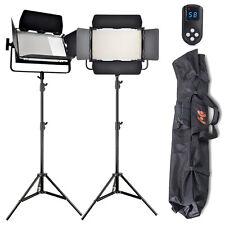 2x High CRI Bi-color 1040 LED Video Lights Studio Film Lighting Kit +Control Bag