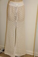 NWT Miken Swim Swimsuit Cover Up Pants White Size M New