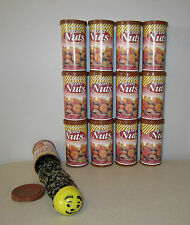 12 SNAKE IN A NUT CAN  SPRING LOADED TRICK NUTS GAG CLASSIC PRANK NOISE MAKER