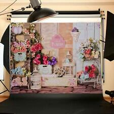 5X7Ft Photography Background Rose Flower Shop Vinyl backdrop For Studio Prop New