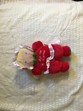 Prestige baby toddler my first christmas baby doll blonde  hair Euc