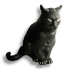Lifesize Black Cat Halloween Foam Rubber Haunted House Prop Decoration 12""