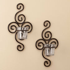 Mini Sophia Sconce Tea Light Candle Holders - Set of 2 Wall Mount Candle Holder