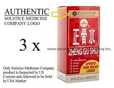 3瓶 正骨水 3 Bottles Zheng Gu Shui External Analgesic Lotion 3.4fl oz (100ml)
