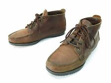 Vintage Eastland Moccasin Ankle Boot Womens 9 Narrow Brown Leather USA Made Flat