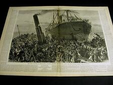 Thames Collison Disaster 1878 PRINCESS ALICE v BYWELL CASTLE Lrg Print w STORY