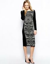 Oasis zebra sexy bodycon dress 8