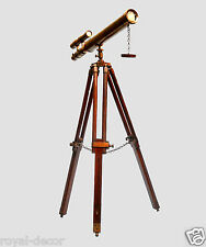 Maritime Nautical Telescope Antique Vintage Tripod Functional 20 X Home & Office