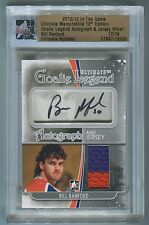 Bill Ranford 2012-13 ITG Ultimate Memorabilia Goalie AUTO JERSEY 17/19 *L676