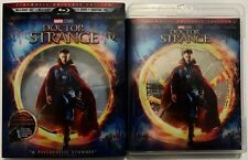 MARVEL DOCTOR STRANGE BLU RAY 3D 1 DISC WITH CLEAR SLIPCOVER + LENTICULAR CARD