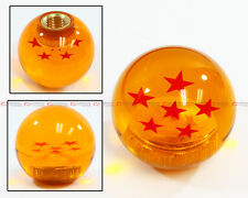 M10 X 1.25 JDM DRAGON BALL Z RED 6 STAR STYLE ACRYLIC ROUND SHIFT KNOB FOR MAZDA