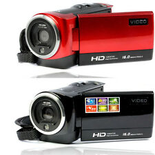 "HD 720P 16MP Digitaler Videorekorder Camera DV 2.7"" TFT LCD 16x Digital ZOOM DVD"