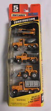 Matchbox Construction Action System 5 Pack Set Bull Dozer Loader Cement Truck