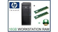 16 Gb (2x8 Gb) Ddr3 Ecc Rdimm Memoria RAM upgrade Hp Z600 Workstation C2 Junta sólo