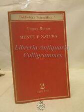 SCIENZE: G. Bateson, Mente e natura, Biblioteca Scientifica Adelphi 1984