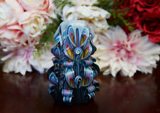 Carved Candles Yellow pink blue black and white Unscented Free shipping