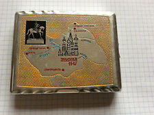 Russian Antiques Old cigarette case Moscow metal, enamel