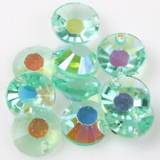150pcs 24784 Free Ship Round Blue Sew-on Flatback Button Resin Charms Beads
