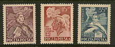 POLAND : 1949 National Celebrities  set  SG659-61 unmounted mint
