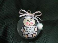 Baby's First Christmas Ornament - Handpainted and Personalized