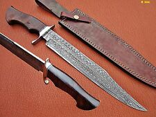 "17""UNION KNIVES CUSTOM MADE DAMASCUS STEEL BOWIE KNIFE (WOOD HANDLE)"