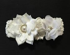 Handmade Christening White Flowers Baby Girl /Toddler /Girl Headband