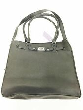 Marc Fisher Saffiano Day By Day Signature Belted Tote Gray HB02