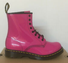 DR. MARTENS 1460 W HOT PINK PATENT LAMPER  LEATHER  BOOTS SIZE UK 3