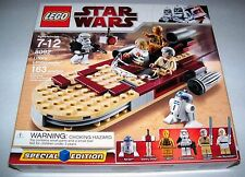 RETIRED Star Wars Lego 8092 LUKE'S LANDSPEEDER SPECIAL EDITION w/ BOX & INSTRUCT
