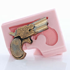 Derringer Pistol Silicone Mold Fondant Candy Chocolate Soap Candle Wax Mold (960