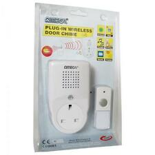 OMEGA 17527 rete plug in CORDLESS WIRELESS porta campana campanel Socket EXTRA-Bianco