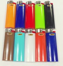 10 REGULAR BIC LIGHTER ASSORTED COLORS NEW BIC WITH FLUID NOT REFILLABLE