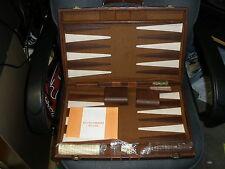 Vintage Skor Mor Backgammon Board Game Fake Leather Case