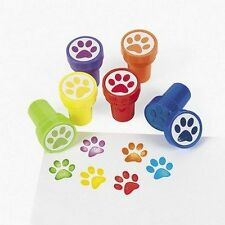 Pack of 6 - Plastic Paw Print Self Ink Stampers - Great Party Bag Fillers