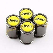 Car Wheel Tire Valve Stem Titanium Alloy Air Cap Yellow Style For Jeep Vehicles