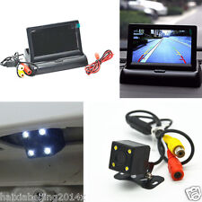 "4.3"" Foldable LCD Vehicle Rear View Monitor & 4 LED Vision Reverse Astern Camera"