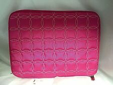 "Buxton 13.3"" Pink Quilted Laptop Case Bag. Fits up to 13.3"" Netbook. OC80L133PK"