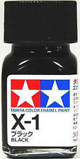 O TAMIYA COLOR GLOSS ENAMEL  PAINT NEW 10ML X-1 BLACK