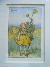 CICELY MARY BARKER - The Buttercup Flower Fairy/Fairies - Vintage Mounted Print