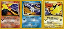 LOT CARTES POKEMON LEGENDAIRES RARES SULFURA ARTIKODIN ELECTHOR N°21 A 23 NEUVES
