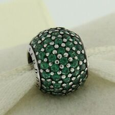 Authentic Pandora 791051CZN Dark Green Pave Lights Sterling Silver Bead Charm