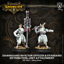 Warmachine BNIB - Retribution Dawnguard Invictor Officer & Standard Bearer (2)