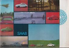 SAAB 95 ESTATE 96 SALOON & 850 MONTE CARLO 2-STROKE ORIG. 1965 UK SALES BROCHURE