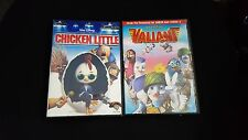 LOT OF 2 WALT DISNEY CHICKEN LITTLE & VALIANT DVD'S