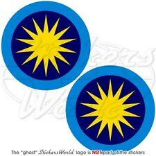 "MALAYSIA Royal Malaysian AirForce TUDM Aircraft Roundel 75mm(3"") Stickers x2"