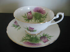 Shelley Oleander Purple Thistle China Cup & Saucer