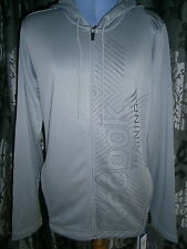 NEW - Reebok Training - Grey with Logo Hoodie Sweatshirt - Size Small