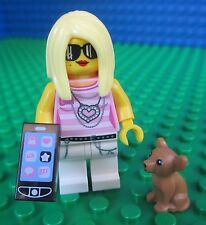Lego Trendsetter Lady Girl Minifig Minifigures Cell Phone Dog 71001 Series 10